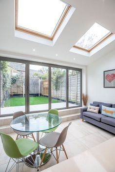Single-storey kitchen extension from L&E (Lofts and Extensions) in Teddington - don't move extend. Victorian Extension, Terraced Property Extension, Kitchen Extension, Kitchen Design Ideas, Bi-Fold Doors