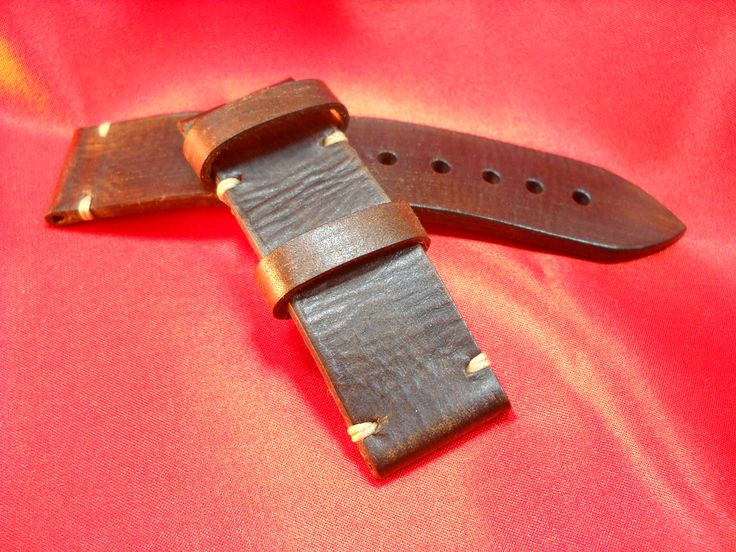 Panerai Strap-26 mm-vegetable-tanned leather-handmade in Italy