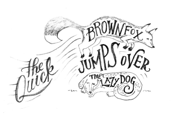 Been working on some sketches where I combine lettering and illustration in fun ways. I just got some guache (phasing out my usual go-to acrylic paint) and I'm thinking I might paint this one up for practice. I also just want to work on my animals.