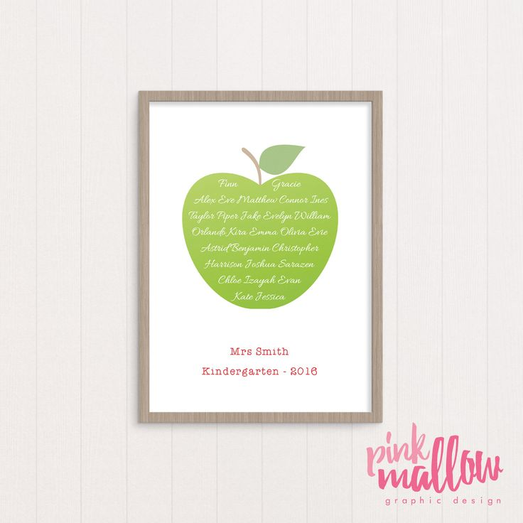 Say thank you to that special teacher for all their hard work over the school year. Perfect for school, kindy or daycare teachers.The A4 print/card are customised with the names of all the chil...