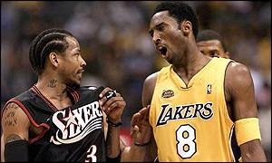 2001 NBA finals: Lakers v 76ers.  I loved AI