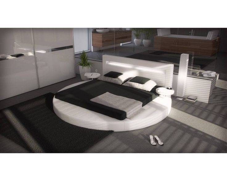 lit rond blanc arezzo minis and design. Black Bedroom Furniture Sets. Home Design Ideas