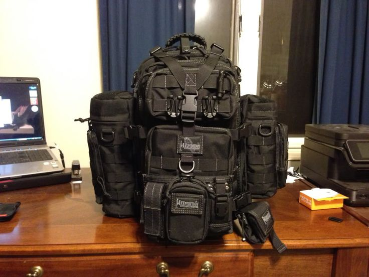 Maxpedition pack.  When there's 5,000 cars on the road, or no road at all, this is what you need.