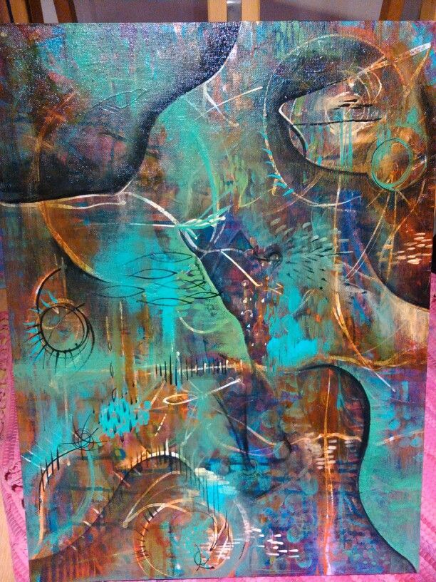 Intuitive painting by Kristy Fleury