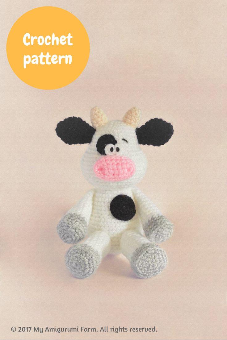 Crochet cow amigurumi pattern