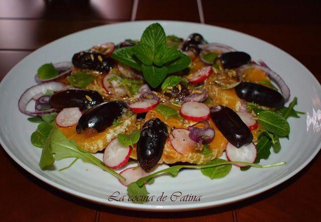 La cocina de Catina: Ensalada de dátiles y naranja