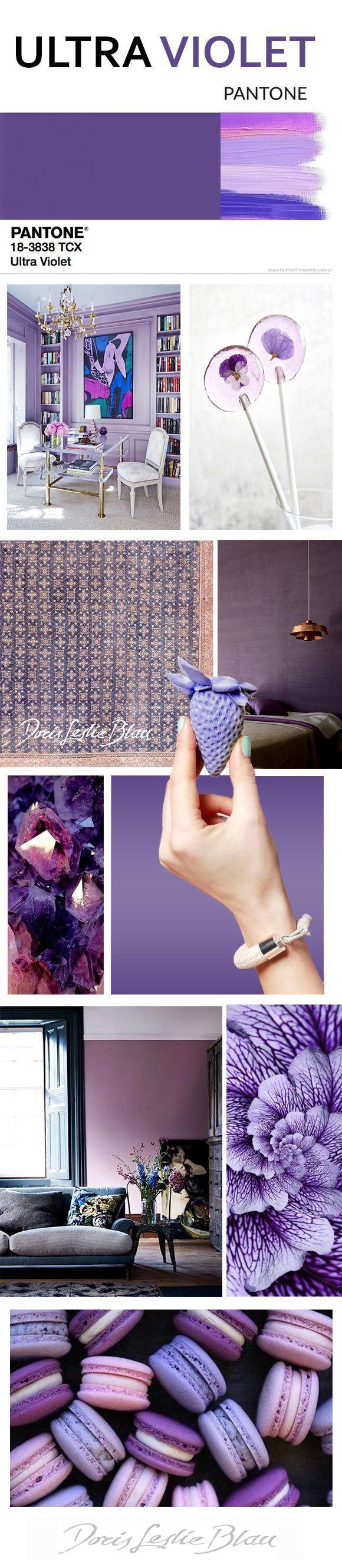 Ultra Violet: Pantone color of the 2018, violet interior decor #ultraviolet