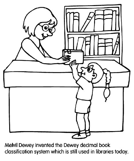8 best library themed coloring pages and printables images ...