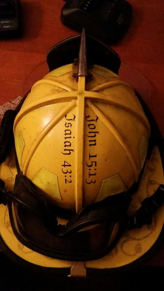 Isaiah 43:2 Fire Helmet Vinyl-$3.50                                                                                                                                                                                 More