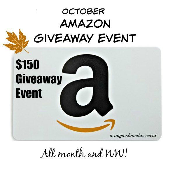 October $150 Amazon Event 2016 Giveaway - Heartbeats~ Soul Stains http://heartbeatssoulstains.com/october-150-amazon-event-2016-giveaway/