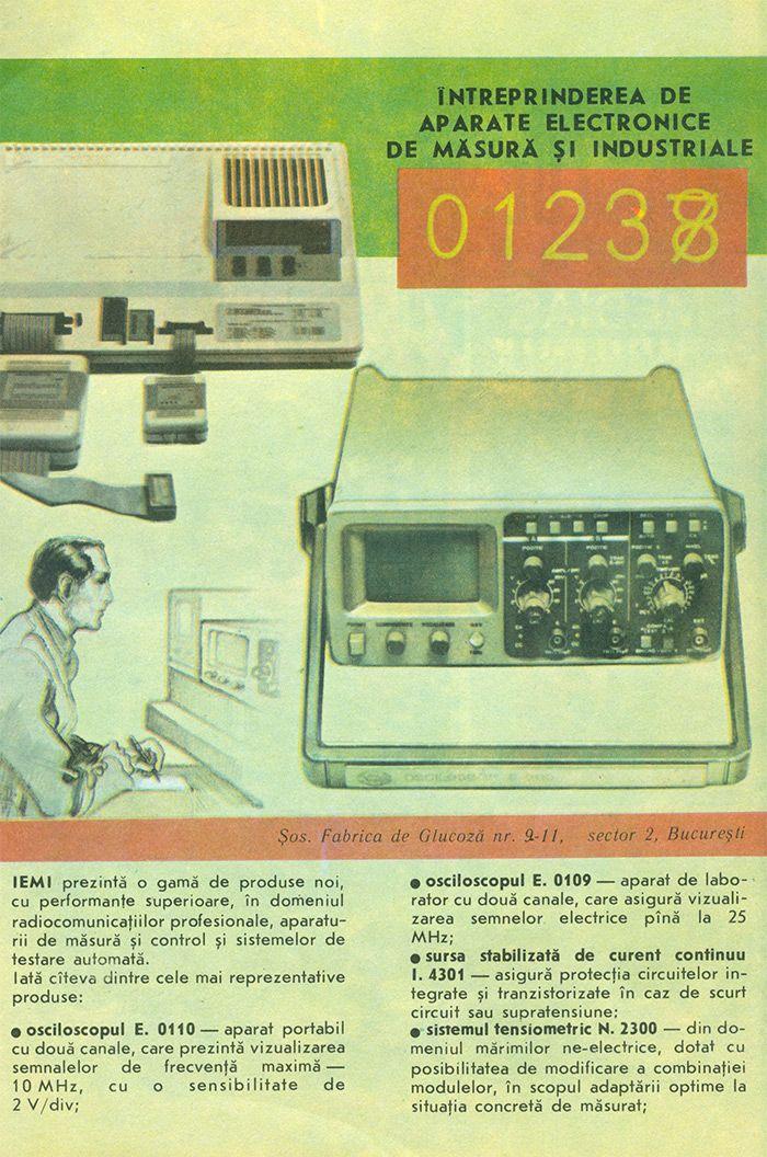 Reclama Interprinderea Aparate Electronice de Masura - #retro #advertising #romania #bucuresti