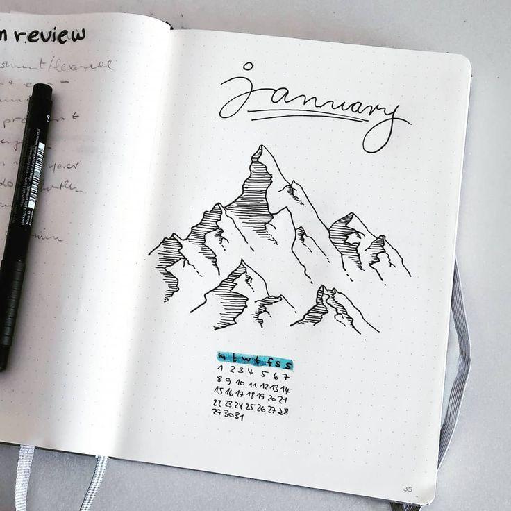 monthly bullet journal calendar
