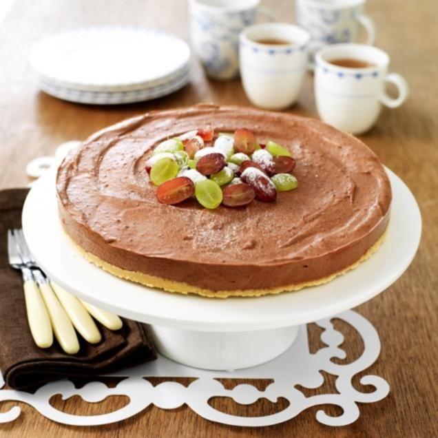 Chocolade Cheesecake                              -                                  Hmmmm, chocolade Cheesecake. Extra lekker met vers fruit.