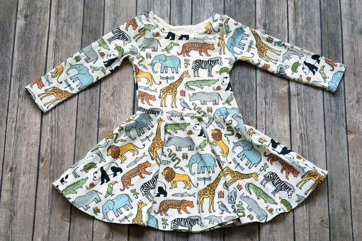 Zoo Dress. Safari Dress. Kid Safari Dress. Toddler Dress. Little Girl Dress. Twirl Dress. Twirly Dress. Baby Dress. Play Dress. Comfy Dress. by ElizabethsClosetUS on Etsy https://www.etsy.com/listing/530519065/zoo-dress-safari-dress-kid-safari-dress