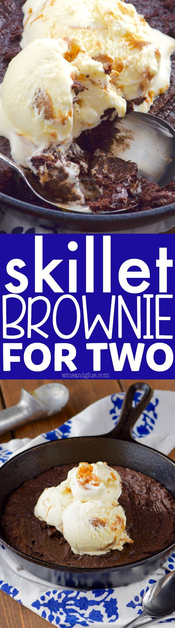 This Skillet Brownie for Two comes together fast in just one bowl and is perfect for a date night or even an after dinner dessert for a family of four! Healthy game movie gluten free girls ideas date late carvings fight poker triva ladies guys friday burns hens saturday easy photography party boys market quotes cooking mornings ovens kids one port peanut butter cheese meat low carb suces friends veggies chocolate chips sweets vegans oats recipes weight loss buzzfeed baked chicken healt...