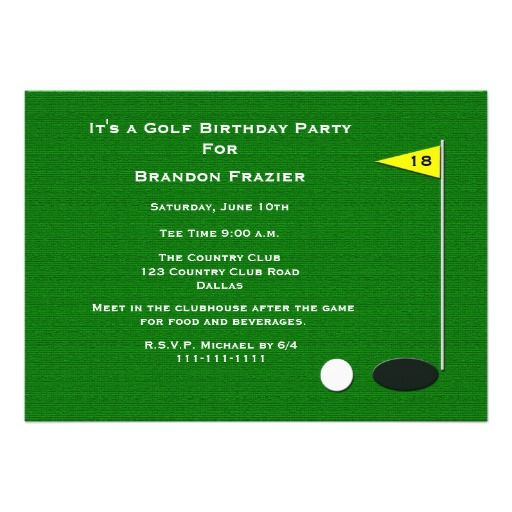171 Best Images About Golf Birthday Theme On Pinterest