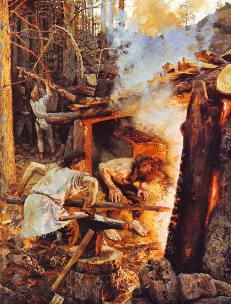 The Athenaeum - Forging of the Sampo (Akseli Gallen-Kallela - )