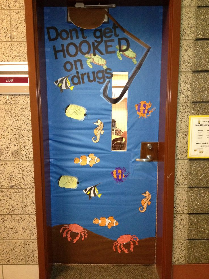 Classroom Competition Ideas ~ Drug awareness week door decorating contest teaching