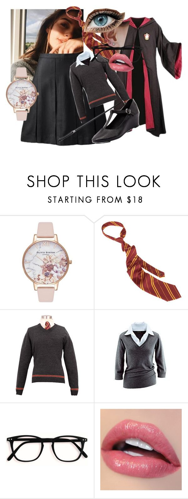"""Tilly Hogwart's uniform"" by pip-bella on Polyvore featuring Olivia Burton, Zensu, Gryffindor and thelatearrival"
