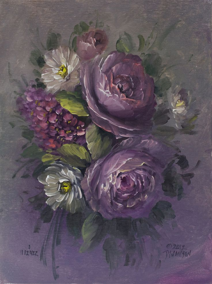 Jansen Art Online Store - Roses and Lilacs, $325.00 (http://www.jansenartstore.com/roses-and-lilacs/)