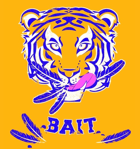 """This is """"Tiger Bait"""" by Megan Nolan. Here is her description: """"Whether he is devouring a war eagle, elephant, or gator...Mike will eat his opponents for lunch! Tiger Bait!"""""""