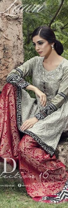 Beautiful Maria B Designer Silk Chiffon Dresses For Eid 2016 #EidDresses…