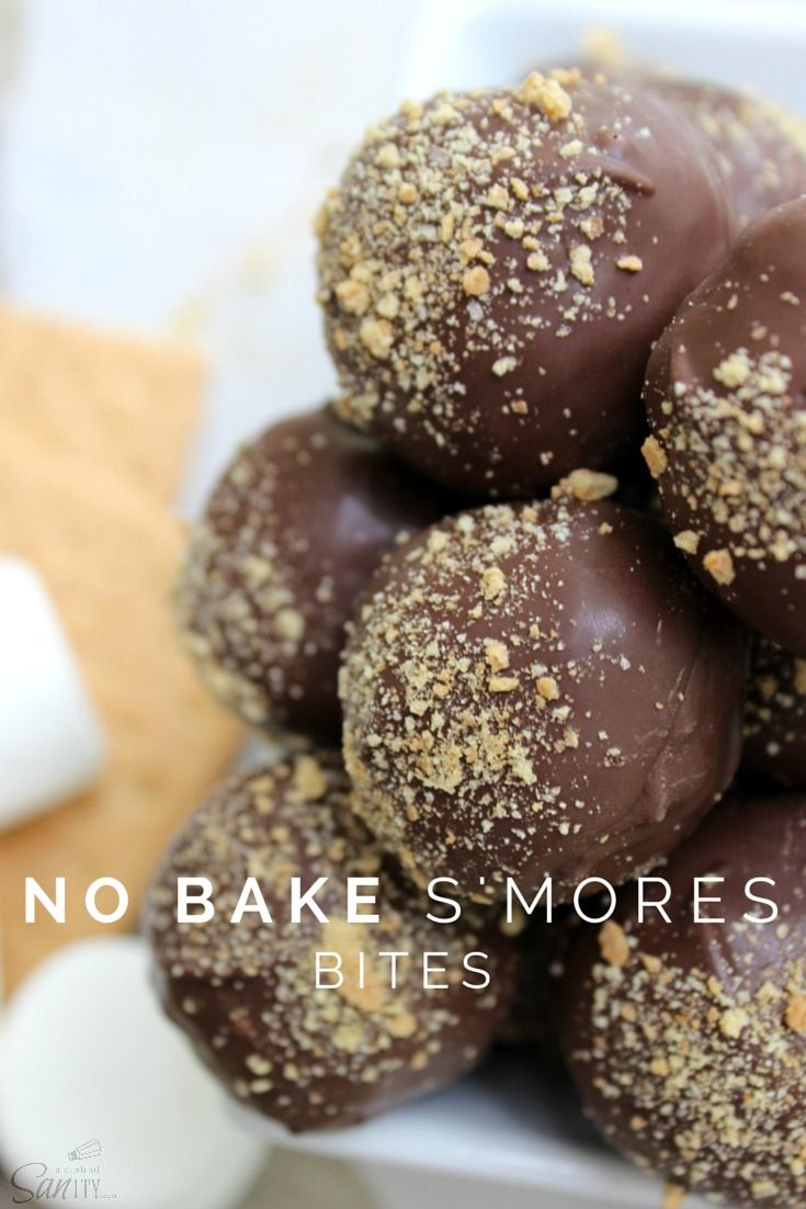 No campfire required for these No-Bake S'mores Bites made with our #Ghirardelli Dark Candy Making wafers, courtesy of A Dash of Sanity