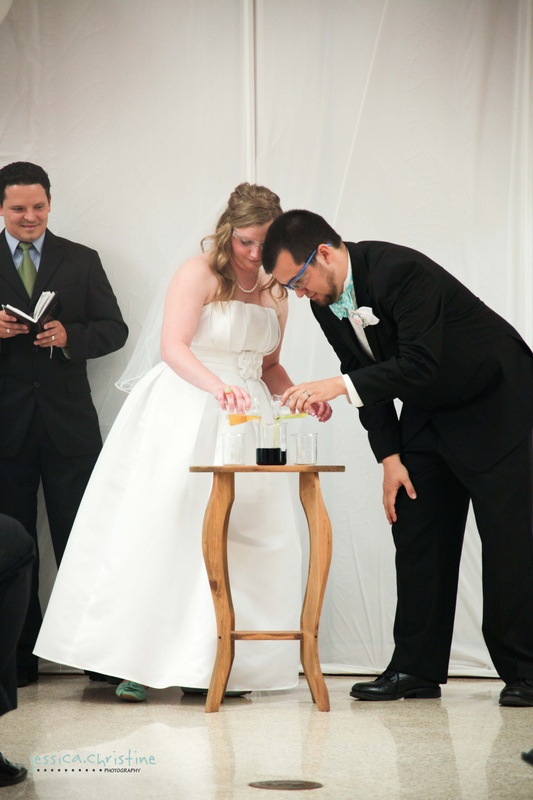 We Did A Chemical Reaction For Our Unity Ceremony I Married Chemist Wedding