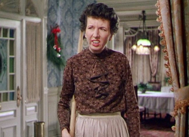 Mary Wickes as the Winfield's maid Stella in On Moonlight Bay.
