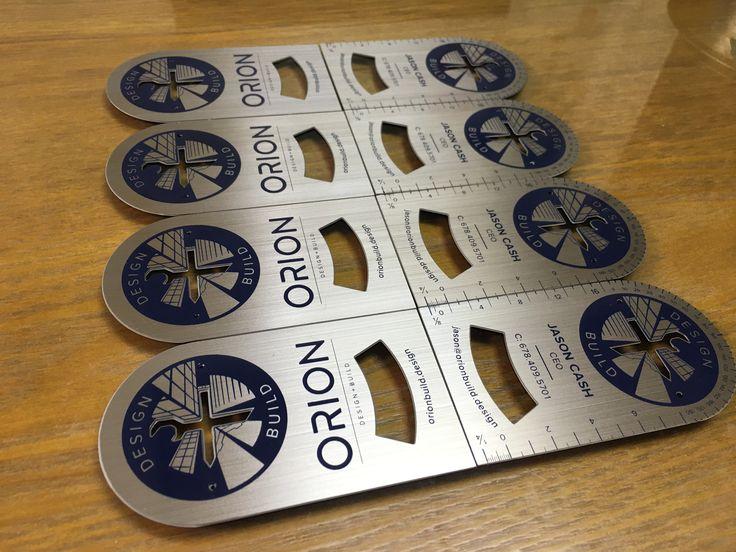 Orion's strong, efficient, responsive team reduces communication barriers and brings process transparency to your project. When they asked us to make their cards we gave them nothing but the best! These beauty's are 0.8mm and tough as nails  #ohmyprint #printing #canadian #metalbusinesscards #design #build #usa  #vip #vipcards #orion #bottleopener #businesscards #businesscardsdesign #promo