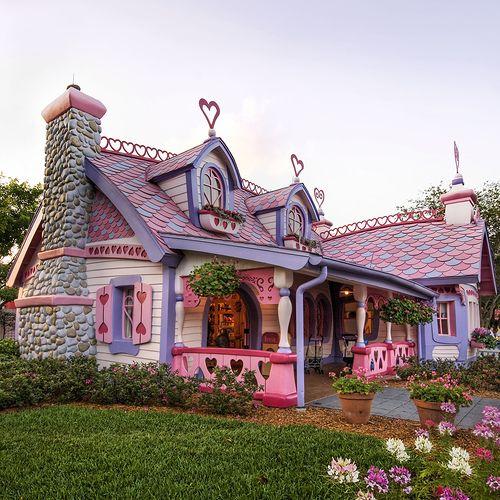adorable pink cottage