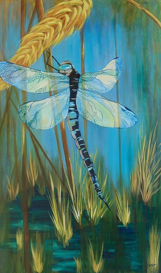 Dragonfly Fantasy Painting  - Dragonfly Fantasy Fine Art Print - Karen Dukes