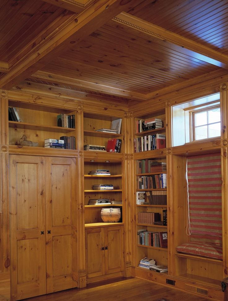 Family Room In Knotty Pine