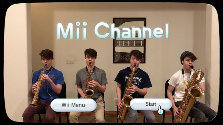 Mii Channel Music but it's played by a saxophone quartet - YouTube