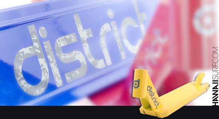 Tout #District Scooter au shop ! decks, pegs, fourches, guidons, colliers de serrage et jeux de direction...