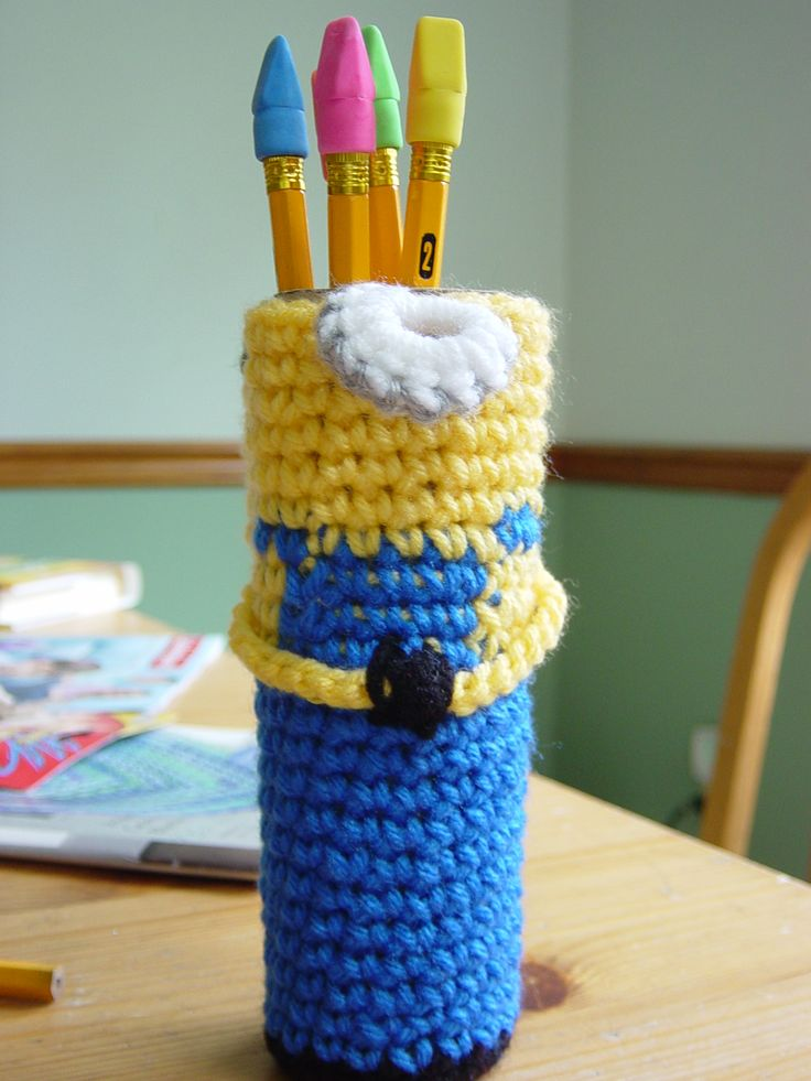 minion pencil case | crochet | Pinterest