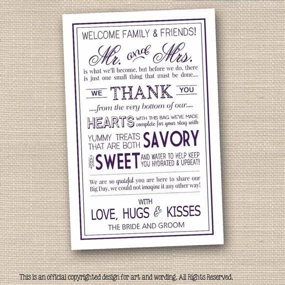 The 25 best hotel welcome bags ideas on pinterest welcome bags hotel welcome bag thank you letter in purple instant download pdf perfect for including in your altavistaventures Choice Image