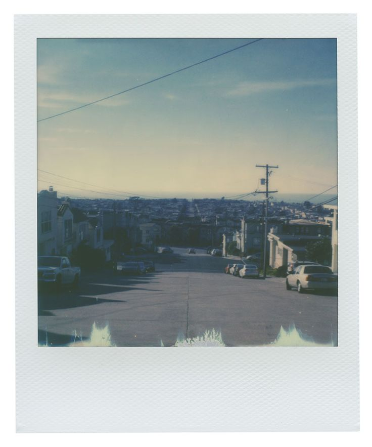 City street views in Inner Sunset district of San Francisco, California | Shot of Polaroid 600 film