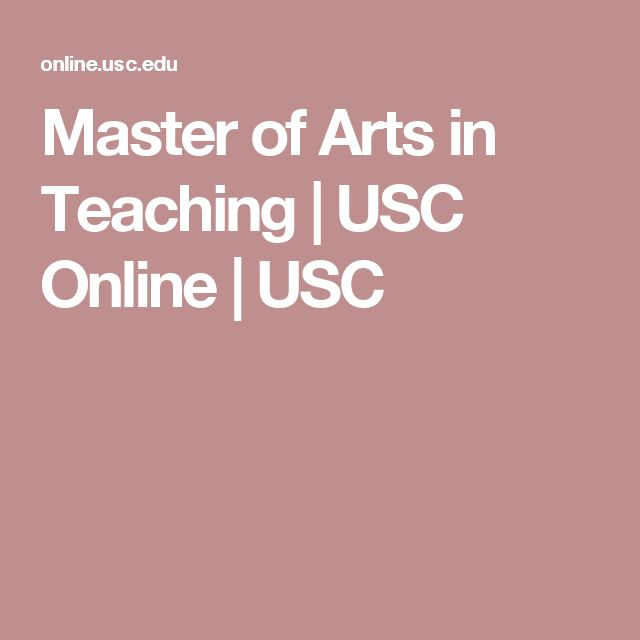 Master of Arts in Teaching | USC Online | USC