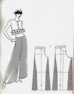Oooo, I want pants like this! - - - Diy pantalón con tela fina