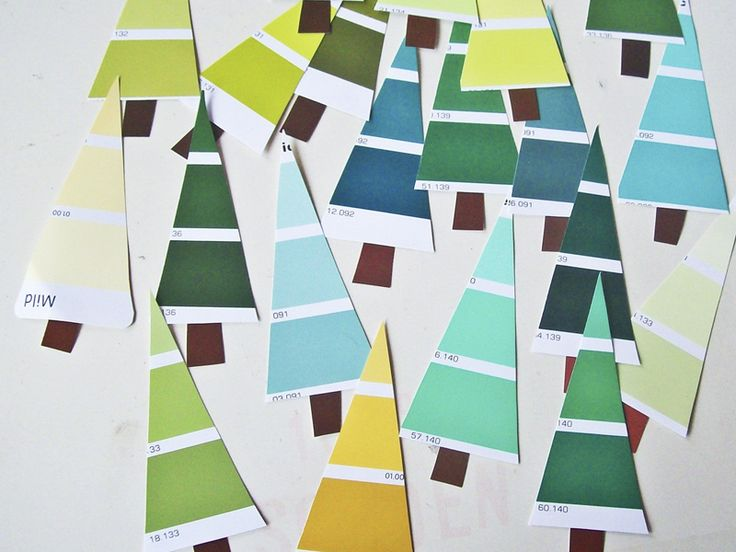Another cool use for paint charts - xmas decorations
