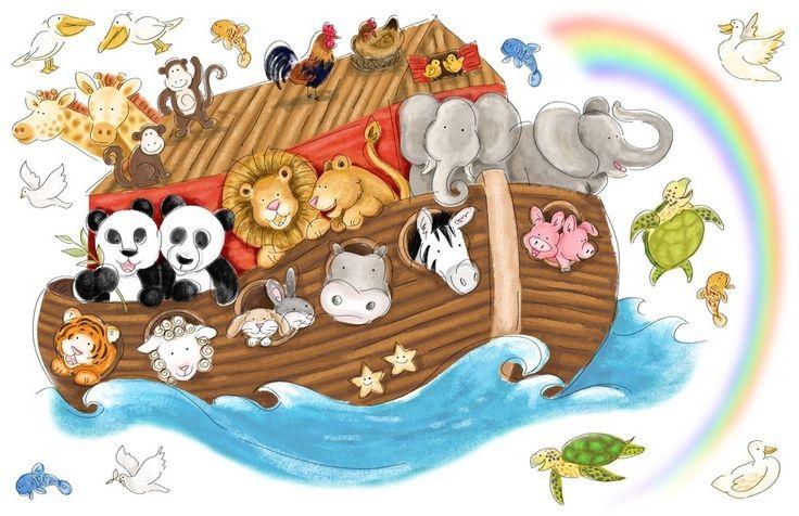 noah's ark nursery decor   Noah's Ark Wall Murals