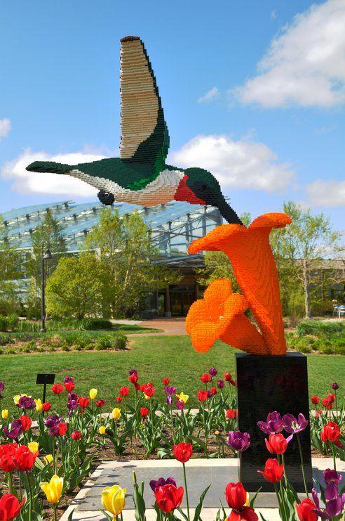 Amazing Garden Sculptures Made with LEGO Bricks at Reiman Gardens
