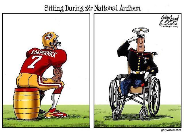 Image result for nfl players kneeling cartoons