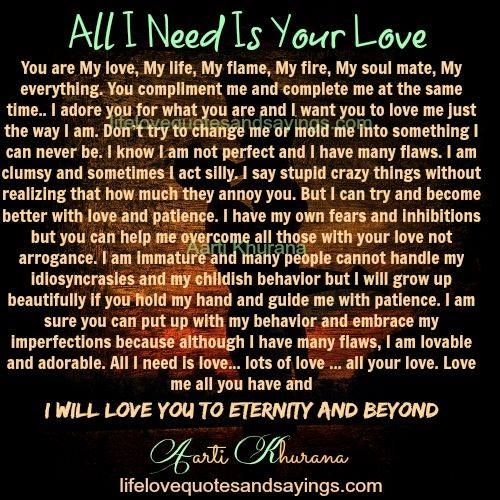 My Love My Life Quotes: You Are My Love, My Life, My Flame, My Fire, My Soul Mate