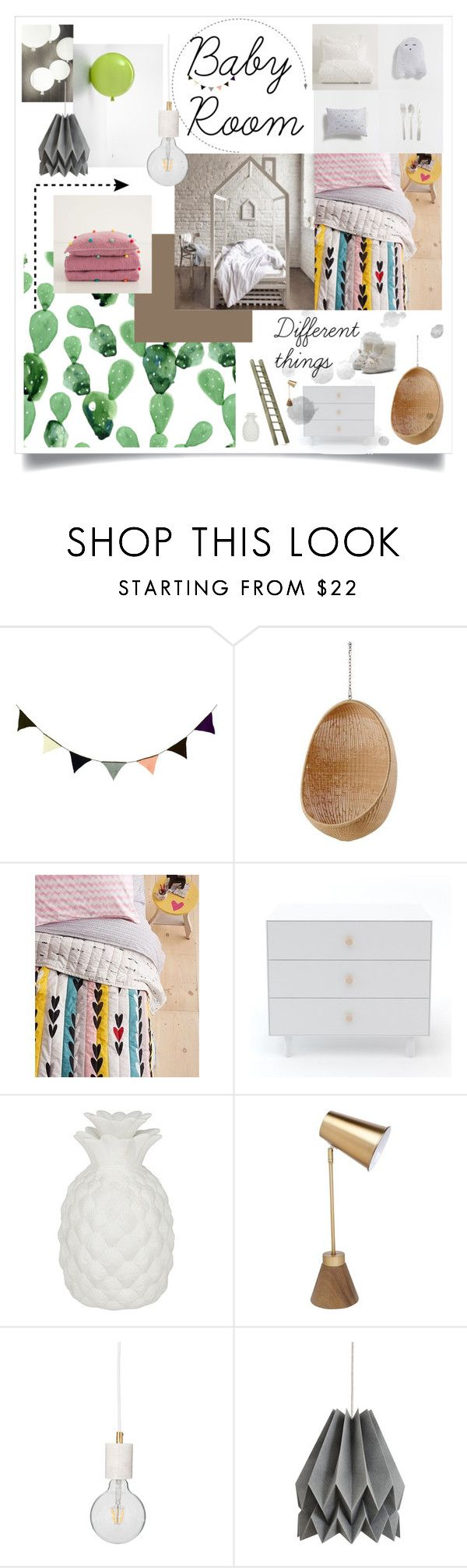 Baby Room by masha-petrushova on Polyvore featuring interior, interiors, interior design, дом, home decor, interior decorating, Sika, Flamant, ferm LIVING and Oeuf