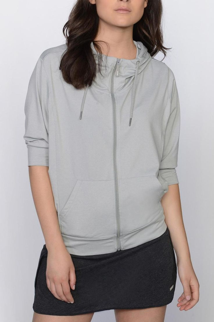 Pack it up and take it everywhere to get an instant dose of style. Loose fitting zip up with drawstring adjustable hood and 3/4 length dolman sleeves. Kangaroo pocket at the front. Loose, cowl neck adds dimension. Reflective logo tab at the back.   Packon Zip Thru by Bench. Clothing - Sweaters - Sweatshirts & Hoodies Richmond, Virginia