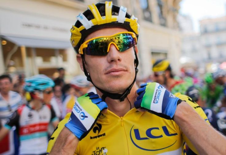 South Africa's Daryl Impey retains the overall leader's yellow jersey for a second day. (Christophe Ena/AP)