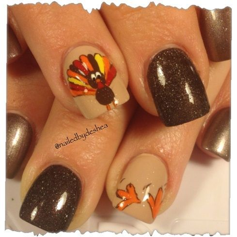 The 7 Best Thanksgiving Nails Images On Pinterest Autumn Nails