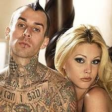 Shanna Moakler and Travis Barker, both VEGAN